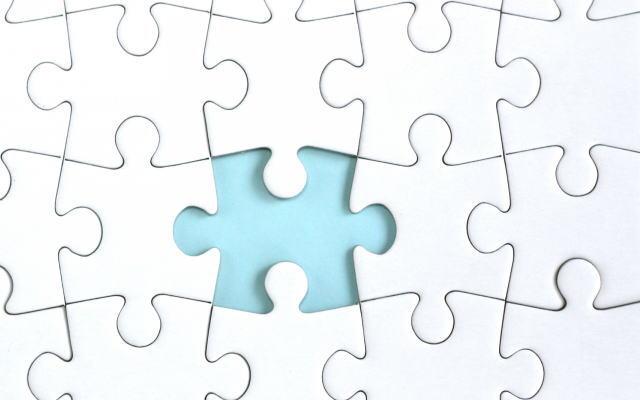 人生のジグソーパズルイメージ画像